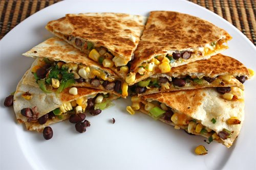 Recipe of the Week: Zucchini, Corn, Black-Bean, and Jack-Cheese Quesadillas