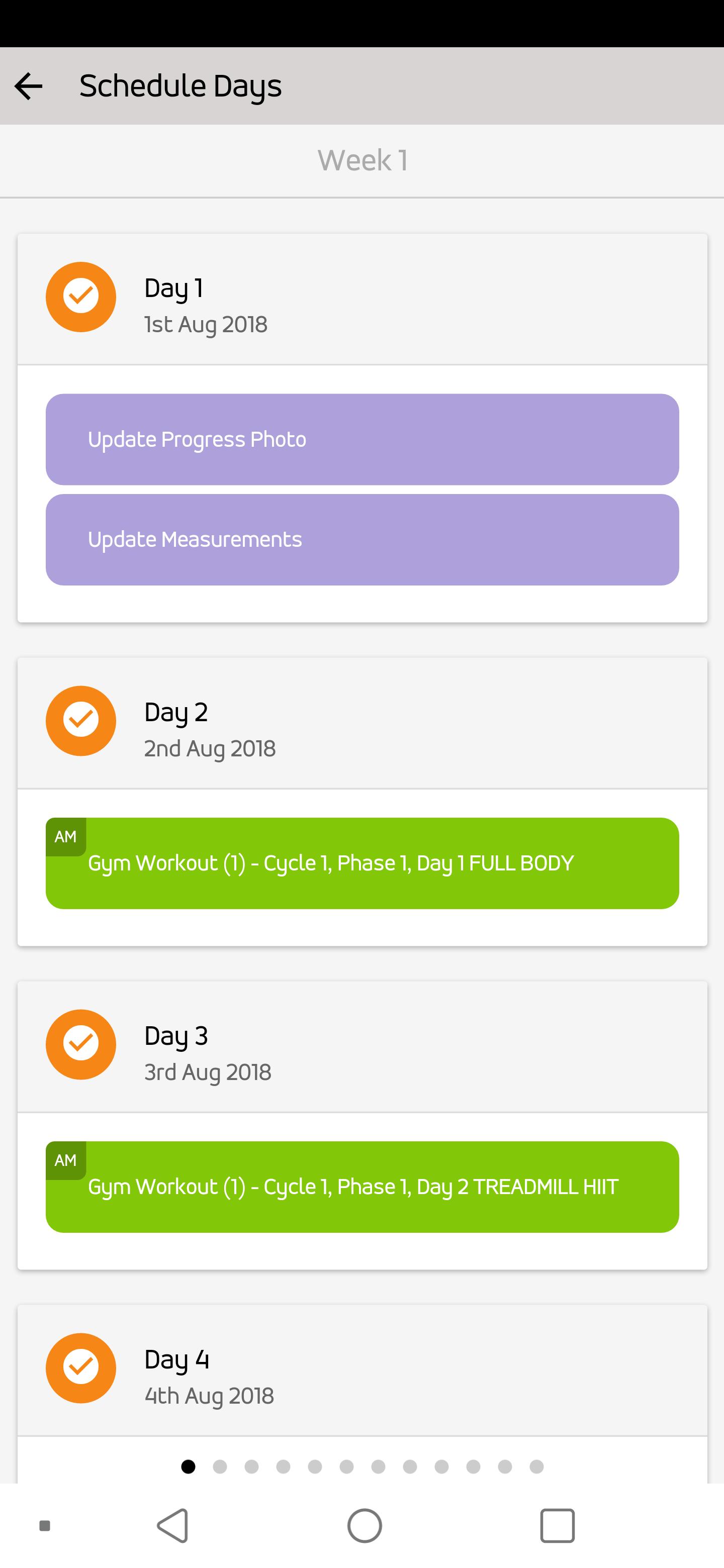 Client Schedule